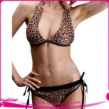 Wholesale Black Trim Leopard Printed 2015 Hot Sexy New Sex Bikini