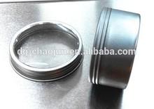 Superior quality food grade tin tea box with window small round gift box