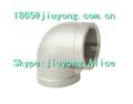 90 grado codo de hierro galvanizado maleable accesorios de tubería