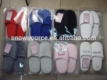 Custom Washable Fleece hotle disposable slippers
