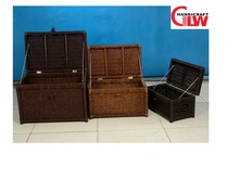 set of 3 seagrass storage trunks, home antique storage trunks, camp storage trunks