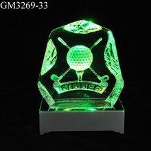 The color gradient golf glass decoration