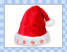OEM design dancing plush, fleece, felt musical christmas hat