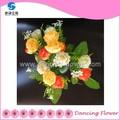 Artificial decorativa tela ramo de flores( af- 50)