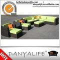 Dysf-db801 Danyalife nueva exterior terraza de mimbre muebles