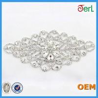 2015 new design charming lace rhinestone crystal trim for evening dress
