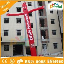 Buena calidad divertido pilar inflable / publicidad / bailarín del aire del traje / trajes de viento para hombre