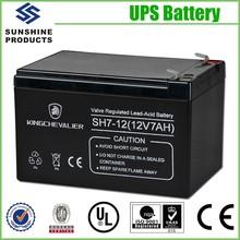Low Self-Discharge VRLA Sealed Lead Acid UPS Battery 12V 7Ah