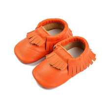 Fashion soft sole leather tassel baby shoes with fringe leather kids shoes baby moccasins shoes