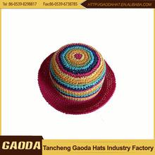 China Wholesale Custom anti slip paper braid Knitted Girl Child Hat
