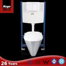 Kuge stainless steel hidden wc toilet set