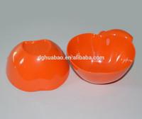 hot selling apple shape melamine bowl in orange color