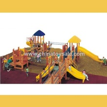 POP Guangzhou safe Wooden Theme outdoor playground seesaw play equipment