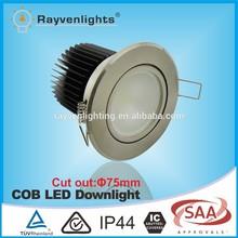 SAA TUV CE approved chrome frame 15w citizen/c ree/epistar cob led downlight 240v led downlights