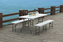 Outdoor used plastic folding bench