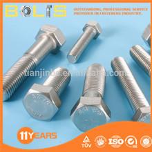 High strength astm a325 hex bolts