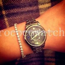 rococoN2015-3 miyota quartz star jewelry stainless steel quartz watch genuine leather wristwatch for lady