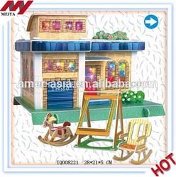 3D Paper Puzzle Family,3D Puzzle Club House,Paper Puzzle Game,DIY Puzzle Toys,Cubic Fun 3D Puzzle