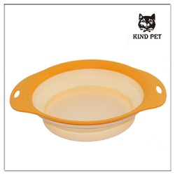 2015 fashion design collapsible pet bowl dog and cat folding bowl