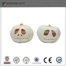 ceramic white halloween eyes pumpkin