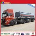 China fabricante de combustible cisterna/aceite diesel de transporte semi remolque de camión