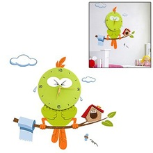 DIY 3D Cartoon Bird Style Wall Clock