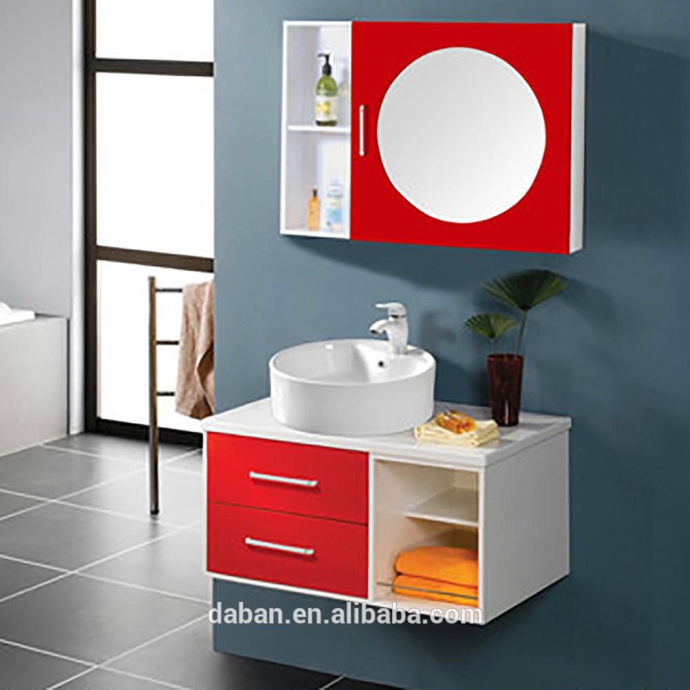 Ready Made Corner Bathroom Mirror Cabinet Wicker Drawer