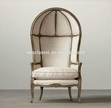 Hot Sale Oak Wood Frame and Linen Fabric Egg Chair AC-2038