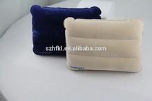 square shape PVC flocked inflatable backrest pillow for travel