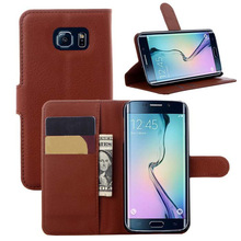 hot new products for 2015 ,two card holder leather case cover for samsung galaxy S6 G9200