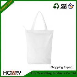 2015 Online Newest Plain White Cotton Canvas Tote Bag for Lady