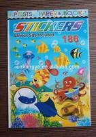 2015 hot sale eco-friendly children cartoon colorful removable sticker book