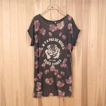 3694# Stock Clothing wholesale women beautiful Printed T-Shirt