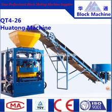 QT4-26 brick making machine Red Color Standard Size of Brick in guangzhou