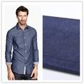 Novo estilo camisas de denim tecido 5 oz tecido camisas de tecido