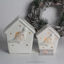 Ceramic Bird House With LED Light
