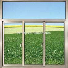 Tempered glass powder coated aluminium bronze color sliding windows