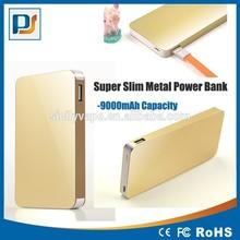 Slim Ploymer Portable hotsell metal case mobile phone power bank