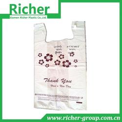 Popular shopping plastic bags with DIY logo printing