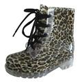 leopardo de sexo mujeres de gran tamaño zapatos para la lluvia