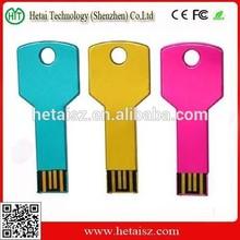 colour key shape usb flash drive 2gb 4gb 8gb 16gb 32gb 64gb menory stick drive pen drive