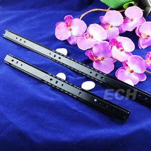 DSE-8561 2 fold steel black blum drawer slide installation