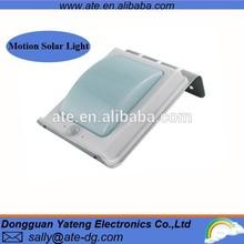ATE 1W PIR sensor motion outdoor solar lamp with weatherproof