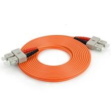 SC/SC Duplex Fiber Optic Patch cable, Multimode 50, 3mm Orange PVC Jacket, 3 Meters Long