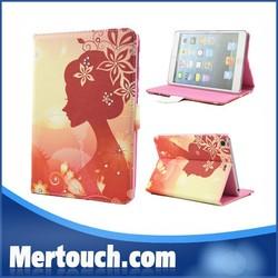 Animel sex girl mobile phone case flip leather case for iPad mini tablet pc case