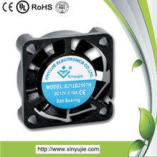 XJ05B2507H 25*25*07mm small exhaust fans dc cooling fan /plastic axial fan