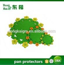 colorful flower felt Nonwoven Fabric pan protectors