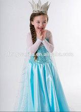frozen elsa dress wholesale child clothes flower girl dress kid clothes