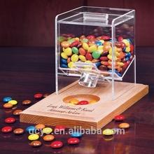 Venda quente transparente acrílico caixa distribuidora de doces / caixa dos doces / caixa de doces de vidro