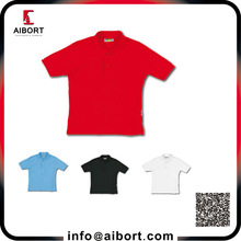 Customed polyester plain polo work shirt for men